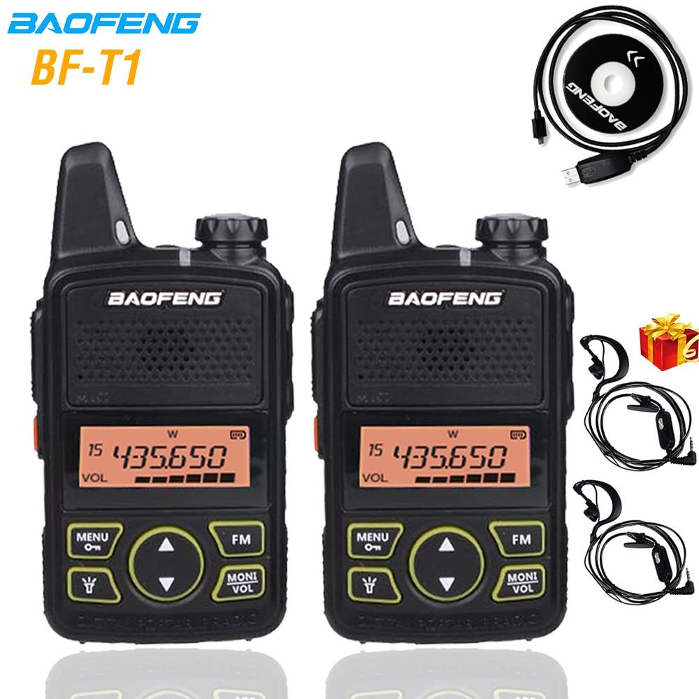 Baofeng BF-T1 Mini Walkie Talkie UHF Handheld Two-way Radio Bft1 Ham Radio Portable FM Transceiver Kids 5km CB Radio Intercom