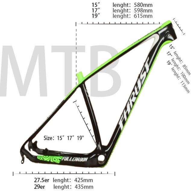 Stuwkracht Carbon Frame Mountainbike 29er 27.5 Red Carbon Mtb Frame Rood T1000 Fietsframe 15 17 19 Bsa BB30 systeem 2 Garantie