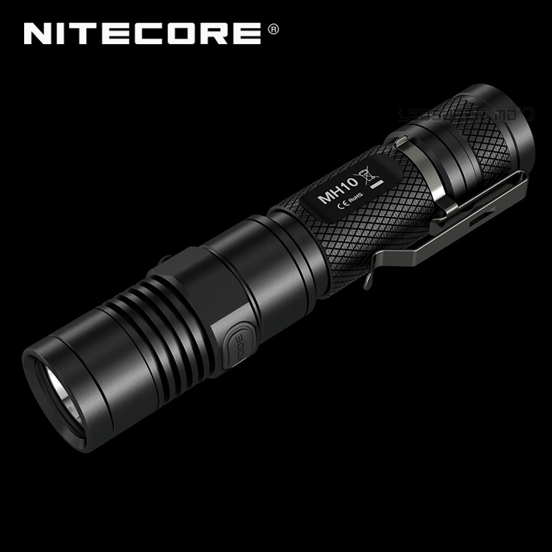 1000 Lumens NITECORE MH10 CREE XM-L2 U2 LED USB Rechargeable Flashlight With Free Battery