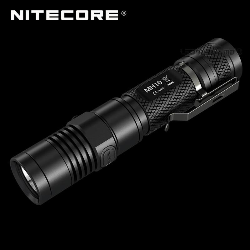 1000 Lumens NITECORE MH10 CREE XM-L2 U2 LED USB Rechargeable Flashlight With Free Battery