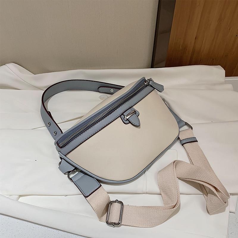 DORANMI Big Fanny Pack Women's Waist Bags 2020 Contrast Color Crossbody Chest Bag Female Waist Packs Casual Nerka Bags BG733