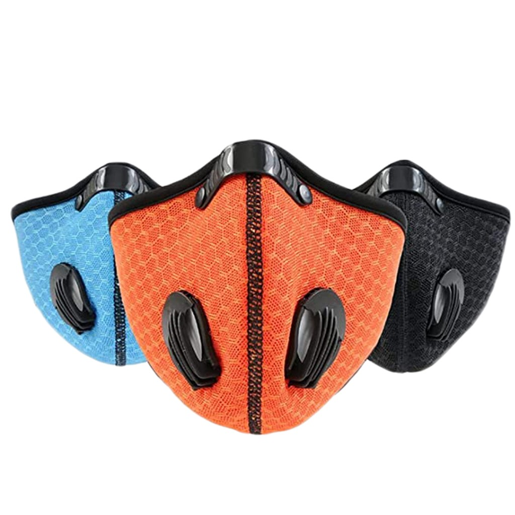 3PCS Sport Half Face Mask Activated Carbon Filter Dust Face Mask PM2.5 Anti-Pollution Running Training Road Bike Cycling Mask