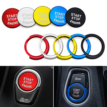 For BMW 1 2 3 5 Series X1 X3 X5 X6 E48 E84 E83 E70 E71 E91 E90 E92 F23 Car Engine Start Stop Engine Switch Button Trim Cover image