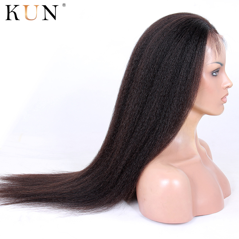 Kinky Straight Wig 13x4 13x6 Lace Front Human Hair Wigs Brazilian Remy 150 250 Density Lace Wig Pre Plucked For Women Full End