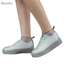 Новые водонепроницаемые чехлы для обуви rouroliu силиконовые