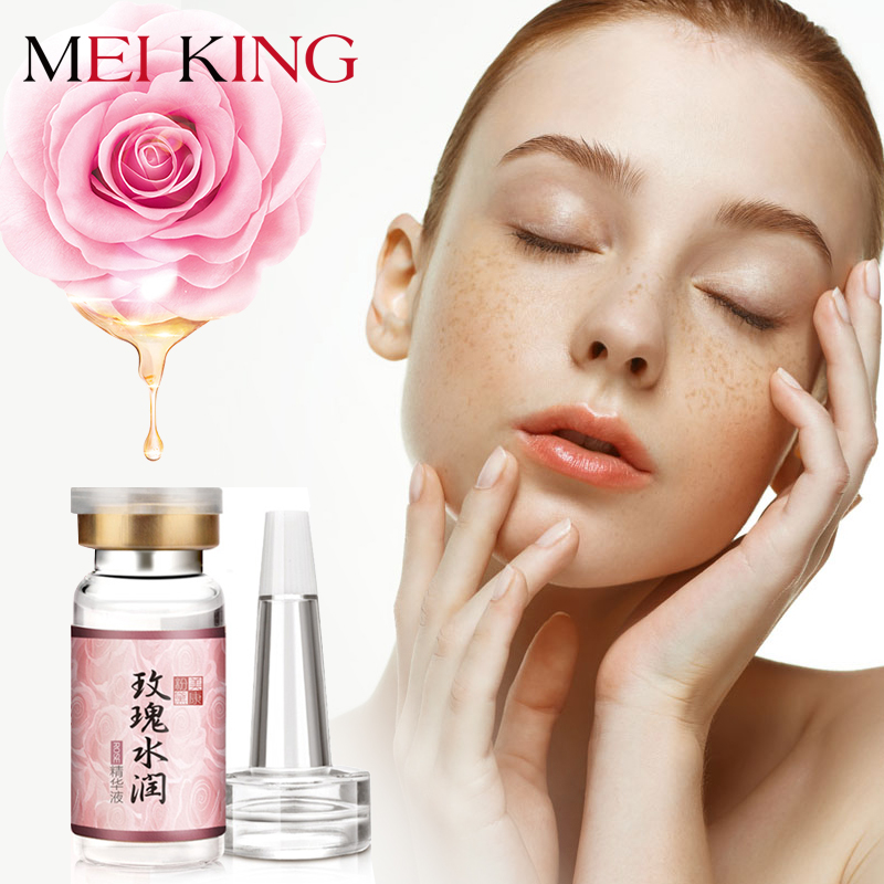 MEIKING Face Serum Rose Moisturizing Facial Essence Liquid Whitening Anti Wrinkle Serum Remove Acne Anti-Aging Skin Care 10g