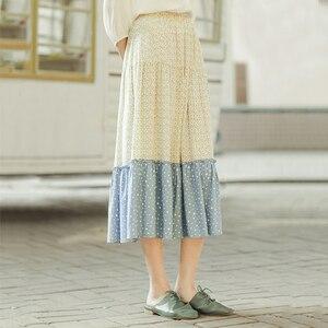 Image 3 - Xã Inman Mùa Xuân 2020 Hàng Mới Về Văn Học Nguyên Chất Và Tươi Nối Màu Sắc Tương Phản Một Hình Dù Váy