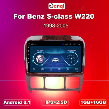 Car Navi GPS Stereo Android8.1 Autoradio For Mercedes Benz S Class W220 S280 S320 S350 S400 S430 S500 S600 AMG 1998-2005 image