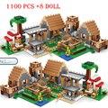 2020 para compatível minecrafted aldeia 30065 árvore casa a mina montanha modelo meu mundo figuras blocos de construção crianças brinquedos