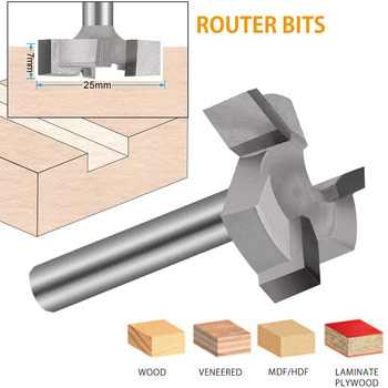 цена на CNC Spoilboard Surfacing Milling Cutter Router Bit 1/4 Inch Shank Carbide Tipped Woodworking Engraving Carving Cutting Tools