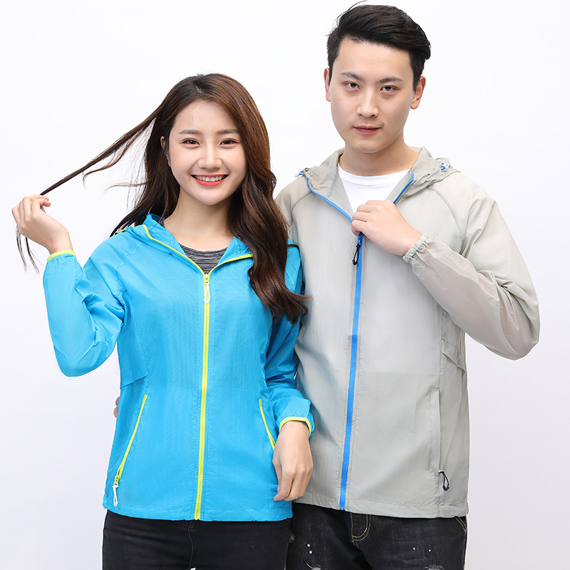 Sun-resistant Wind Shield 2018 Summer Couples Wind Shield Sports Outdoor Riding Hooded Windproof Sun Blocking Quick Drying Cloth