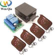 Универсальный пульт дистанционного управления 433 МГц 12 В постоянного тока 10 А 2 канала релейный приемник и передатчик для универсальной расширительной двери устройство управления воротами