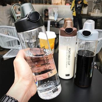 Explosion Sports Water Bottles 800ML Protein Shaker Outdoor Travel Portable Leakproof PC plastic Drink Bottle Transparent Bottle 1