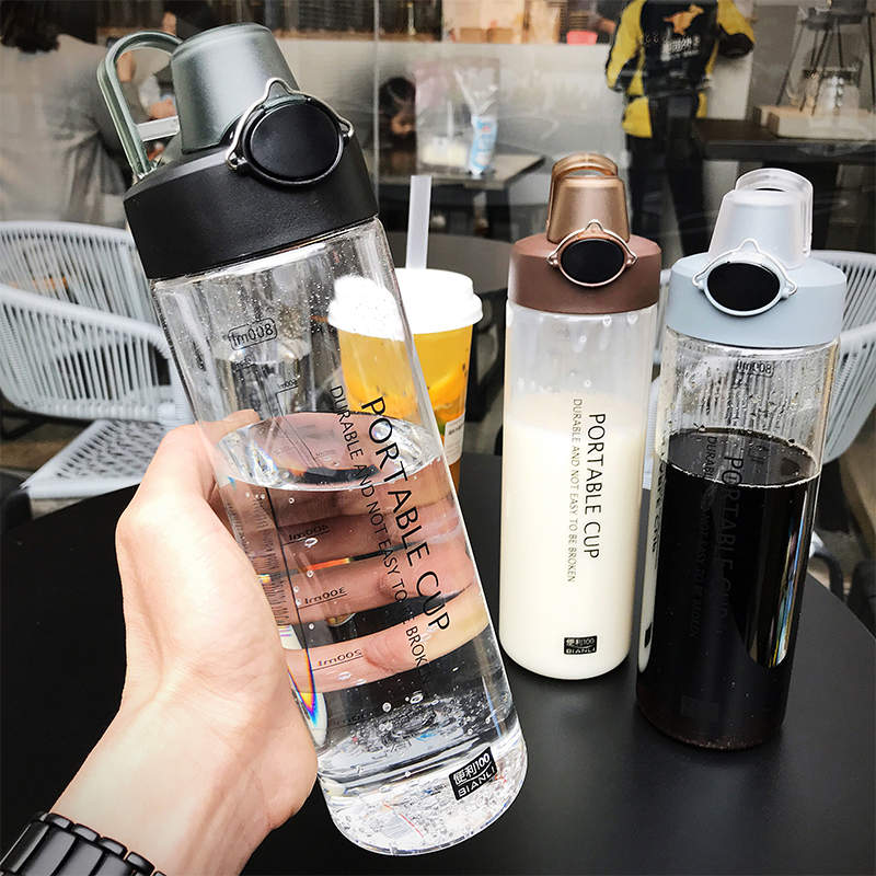 Explosion Sports Water Bottles 800ML Protein Shaker Outdoor Travel Portable Leakproof PC plastic Drink Bottle Transparent Bottle|Water Bottles|   - AliExpress