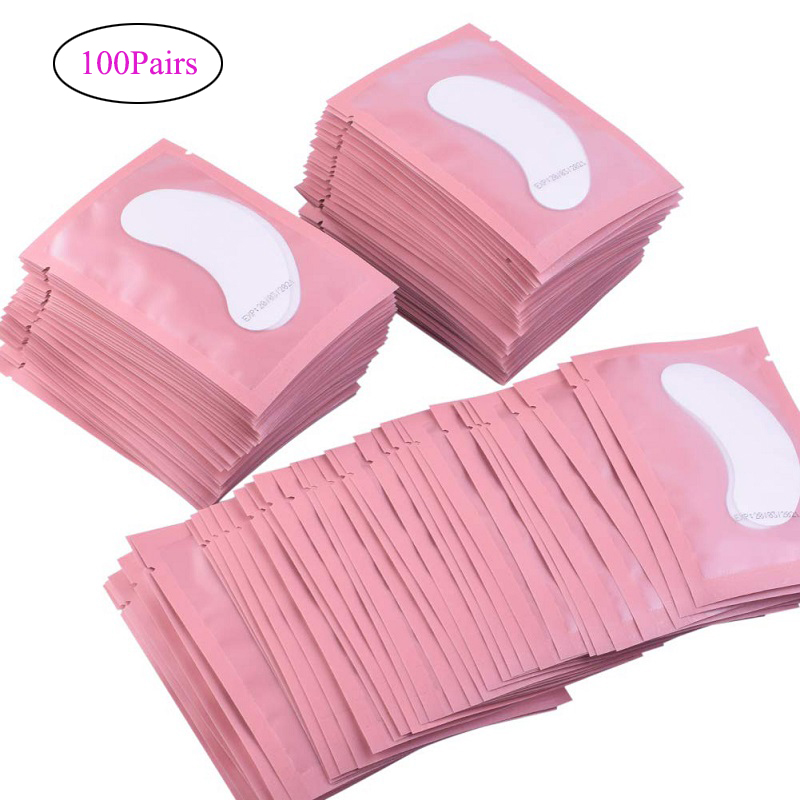 100pairs Eyelash Extension Paper Patches Grafted Eye Stickers 7 Color Eyelash Under Eye Pads Eye Paper Patches Tips Sticker