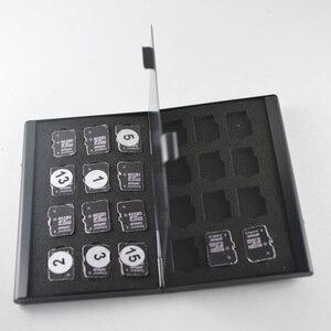 Image 2 - 高品質ポータブルアルミマイクロマイクロ sd tf カード 24 スロットメモリカード収納ケースプロテクターホルダーカードアクセサリー