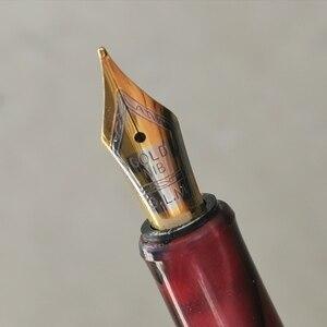 Image 2 - Eski stok GLM kırmızı reçine dolma kalem mürekkep kalem dönüştürücü kalem kırtasiye ofis okul malzemeleri penna stilografica