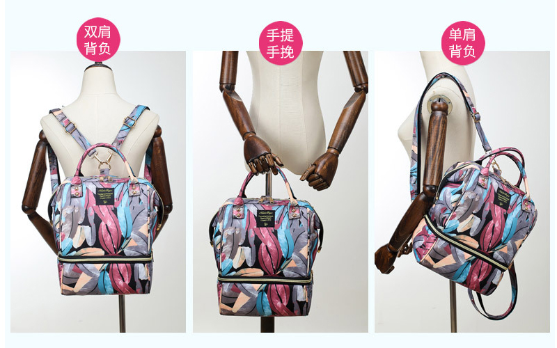 H509674b6952b428aab1dd801df5ea5178 Diaper Bag Backpack For Moms Waterproof Large Capacity Stroller Diaper Organizer Unicorn Maternity Bags Nappy Changing Baby Bag