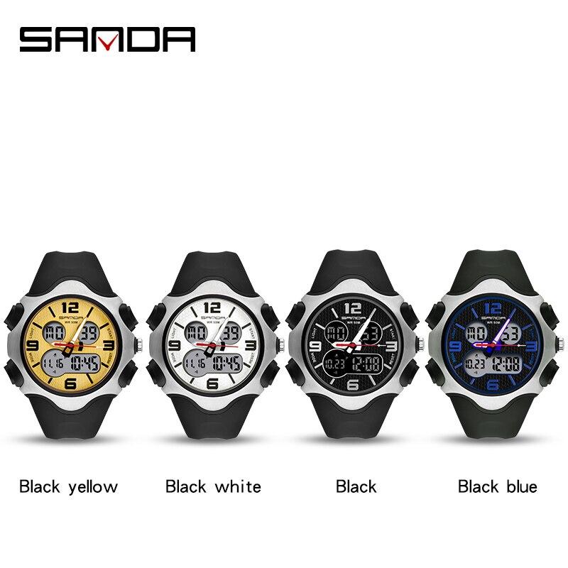 Marque montre hommes de luxe antichoc numérique montre-bracelet mode lumineux chronomètre horloge 50M étanche militaire hommes montres 2