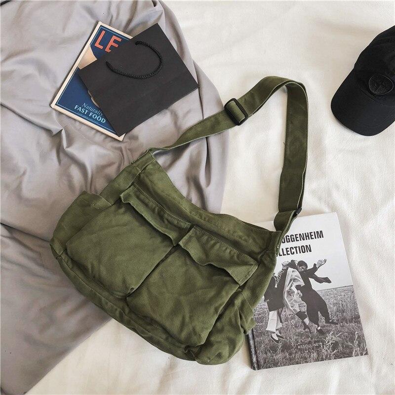 Холщовая Сумка на плечо для девочек-подростков, женские мессенджеры, повседневные дамские сумочки, кошелек через плечо для подростков, 2020