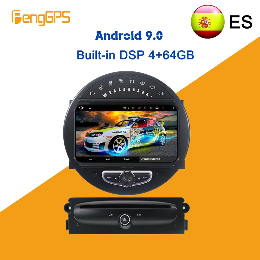 Android 9.0 DSP 4+64GB For MINI Cooper 2006-2013 Car DVD Multimedia Player Stereo Radio GPS Navigation Head Unit Touch Screen