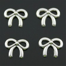 40pcs Tiny Bow Charm For Jewelry Making Tiny Bow Charms Small Bow Charm For Jewelry Making Wholesale Jewelry Accessories 11x9mm cheap WYSIWYG Zinc Alloy Other Fashion Metal Vintage