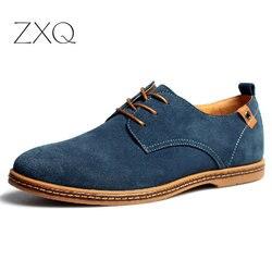 2019 موضة الرجال حذاء كاجوال ربيع جديد الرجال الشقق الدانتيل يصل الذكور جلد الغزال أوكسفورد الرجال أحذية من الجلد zapatillas hombre حجم 38-48
