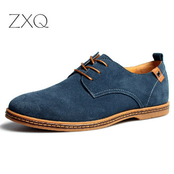 2020 fashion men casual shoes new spring men flats lace up male suede oxfords men leather