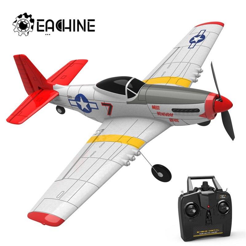Eachine мини P-51D EPP 400mm размах крыльев 2,4G 6-осей, электрический RC самолет тренажер 14 минут Fight Time с неподвижным крылом RTF для начинающих