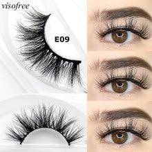 Visofree natural long 3d mink lashes hand made makeup false eyelashes mink hair fuffly eyelash extension faux cils beauty