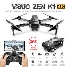 Visuo ZEN K1 GPS RC Drone with 4K HD Dual Camera Gesture Control 5G Wifi FPV Bru