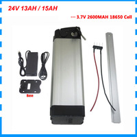24V 13AH Silber fisch batterie 24V 15ah lithium-ionen fahrrad batterie 15A BMS mit 29 4 V 2A Ladegerät freies gewohnheiten gebühr