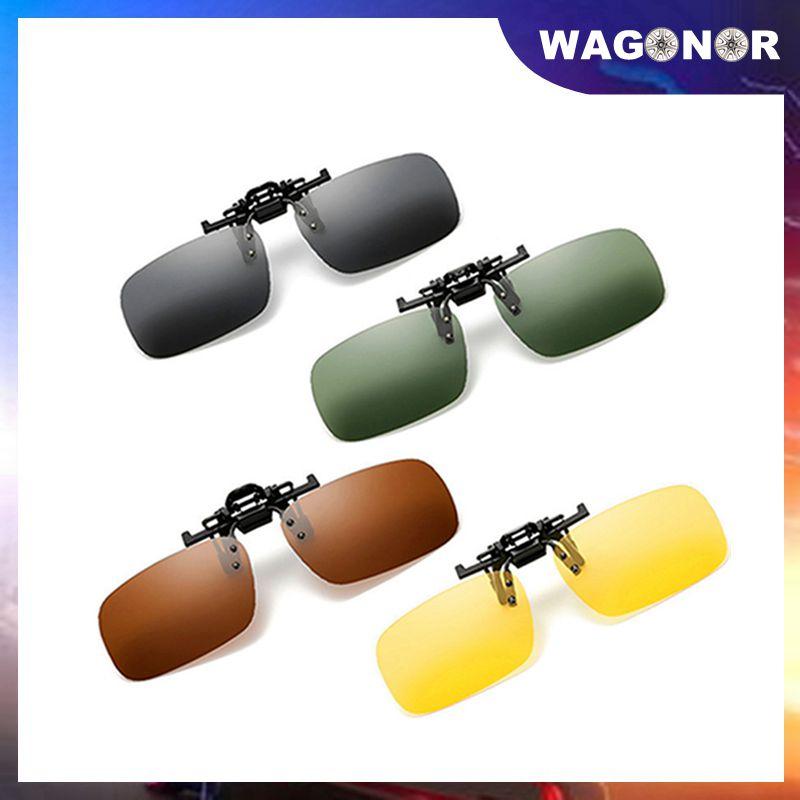 2 pièces moto lunettes de soleil voiture polarisée pince sur lunettes de soleil 13cm conduite Vision nocturne lentille anti-uva éblouissement lunettes de plein air
