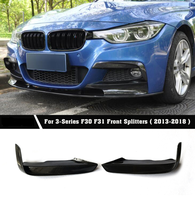 For MAD Style Body Kits Carbon fiber Front Splitters Bumper Lip Aprons Side Spoiler For BMW F30 F31 Mtech