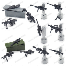 Legoinglys Soldier Weapons Guns Building Block Military Assemble Model Series Diy World War 2 Army Moc Child Christmas Gift Toys
