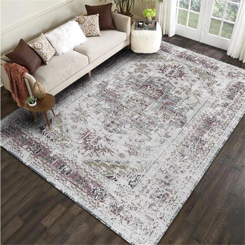 200x300CM American Style Retro Carpet For Living Room Bedroom Large Rugs Study Room Tapis Non-slip Door Mat Floor Persian Carpet