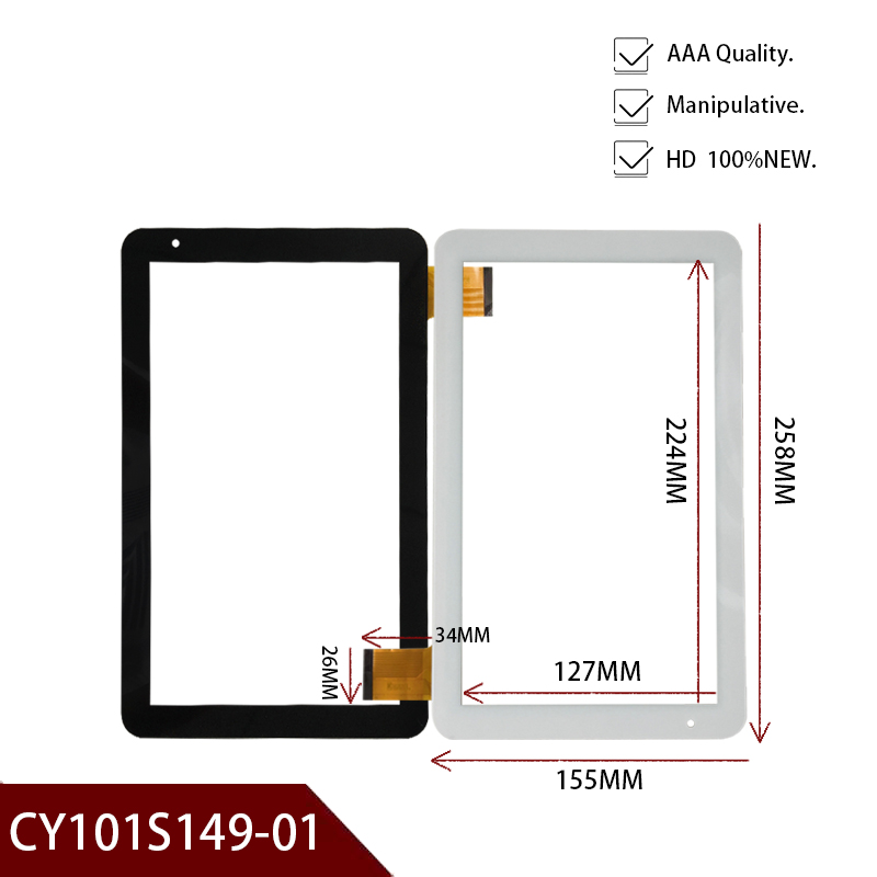 Brand New Original White Or Black 10.1'' Inch Tablet Digitizer Glass CY101S149-01 Tablet Touch Screen Panel Free Shipping