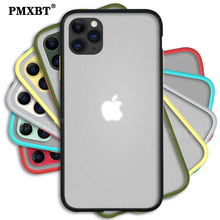 Luxury Transparent Matte Phone Case For iPhone SE 2020 11 Pro XS MAX X 8 7 Plus Hard PC+Soft TPU Silicone Frame Protective Cover glow in the dark protective tpu pc back case for iphone 5 green transparent