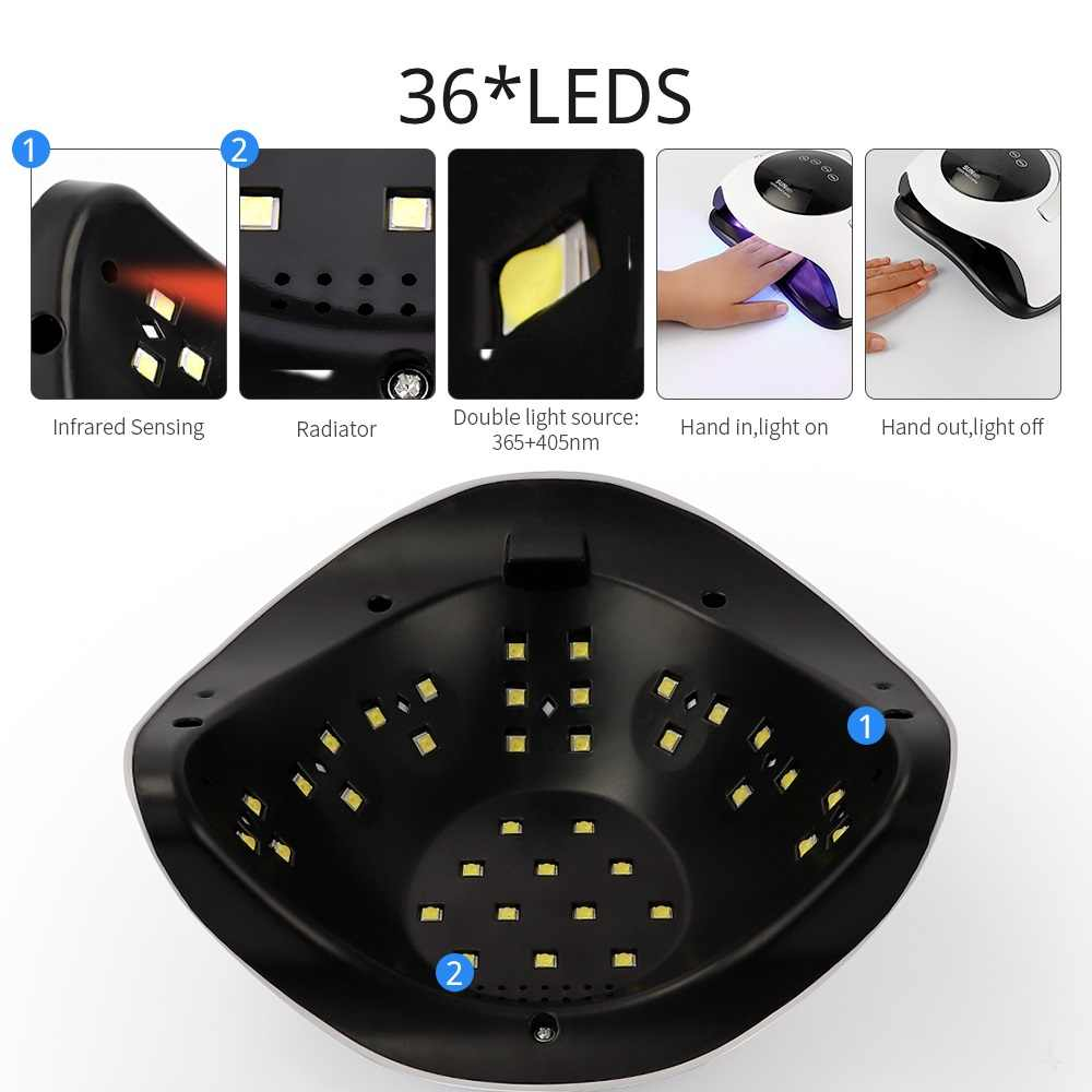 SONNE BQ5T UV LED Lampe Nägel Trockner 120W Eis Lampe Für Maniküre Pediküre Nagel Gel Lack UV Licht Trocknen maschine Nagel Schönheit Salon