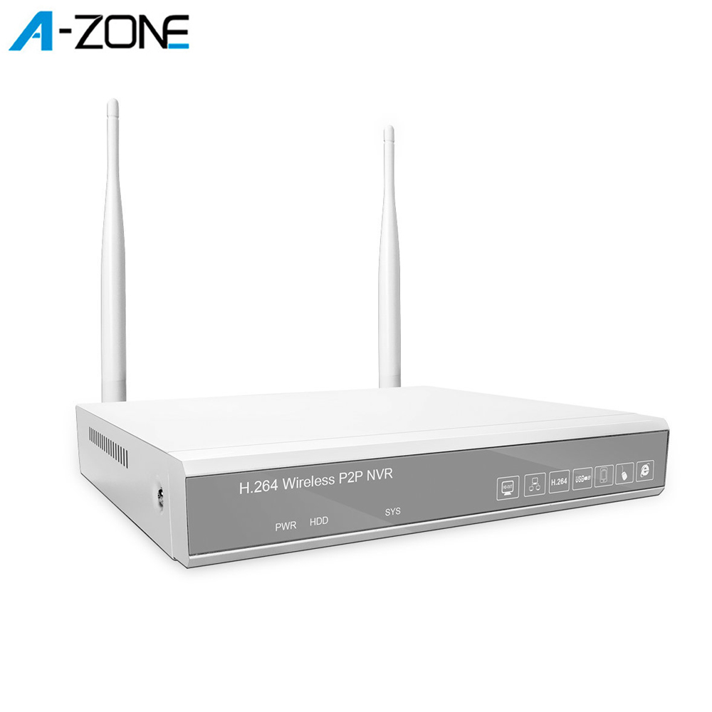 A-ZONE Network Video Recorder 1080P NVR For Wifi CCTV Surveillance Video System H.264 4CH 2.0MP NVR For IP Security Camera Kit