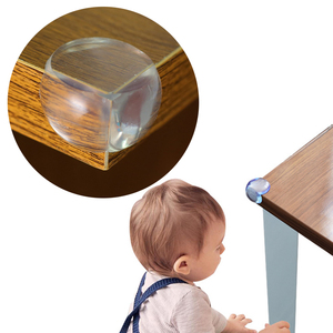 QWZ 10Pcs Child Baby Safety Silicone Protector Table Corner Edge Protection Cover Children Anticollision Edge & Corner Guards