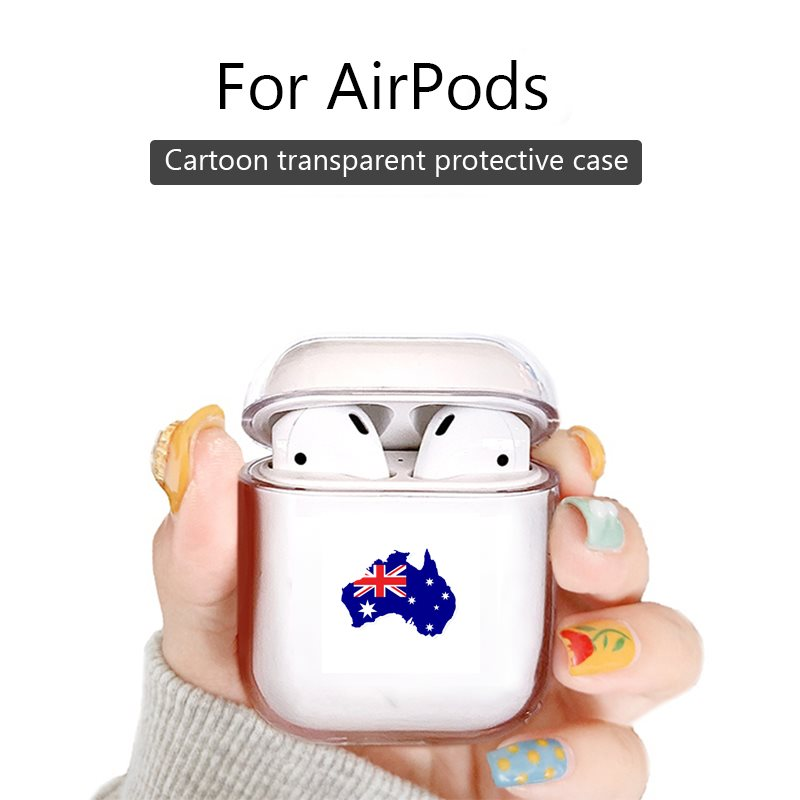 For Airpods 1 2 Case Cover For Apple Air Pods Pro Earphone Clear Headphone Case Accessories AUSTRALIA Map