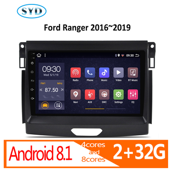 car radio android auto 2 32G for Ford Ranger 2016 2017 2018 2019 coche audio autoradio carplay 1 din navigator DVD multimedia FM image