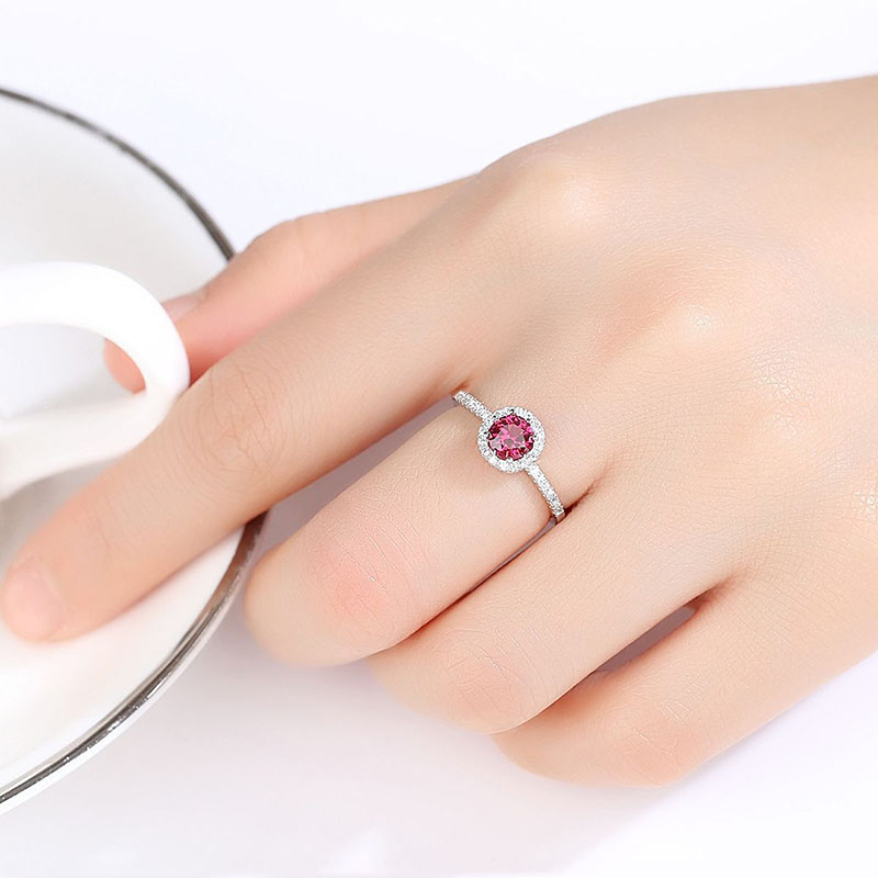 H5097b25db9bb46e29af83c944b6e4305m Jellystory 925 Sterling Silver Ring Creative Ruby Rings for Female Wedding Party Round Red Gemstone Ring Jewellery Gift size 6-9