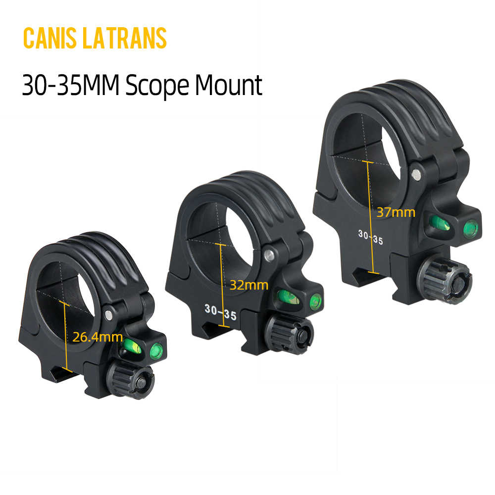 CANIS LATRANS Airsoft Mount QD Quickly Detached 30-35MM Diameter Ring Rifle Scope Mount Bubble Level For Rifle Scope OS24-0193