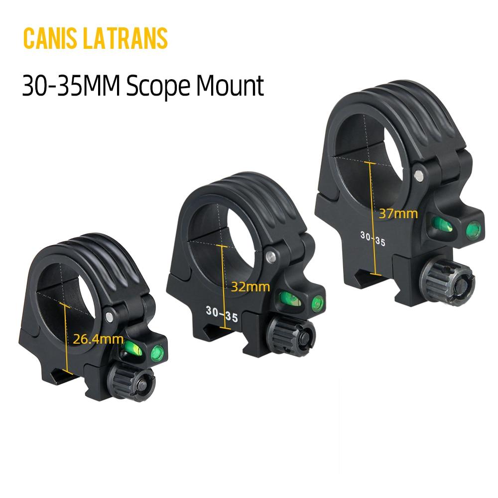 CANIS LATRANS Airsoft Mount QD rapidement détaché 30-35MM diamètre anneau fusil portée mont bulle niveau pour fusil portée OS24-0193