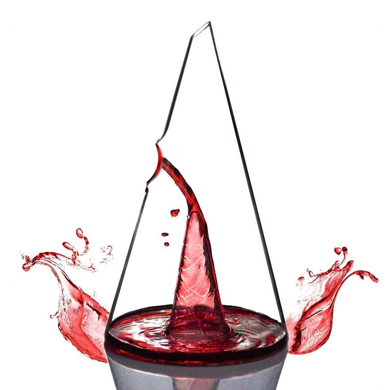 Wine Decanter,Pyramid Decanter Creative Personality Red Wine Waterfall,Fast Filter Wine Separator,750ML
