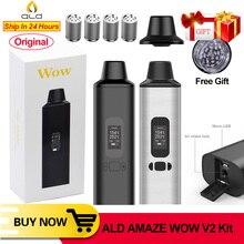 ALD AMAZE Wow V2 V1 Dry Herb Vaporizer Kit Herbal Electronic Cigarette Vaporizer Portable Vape Pen and 0.96inch Big OLED Display