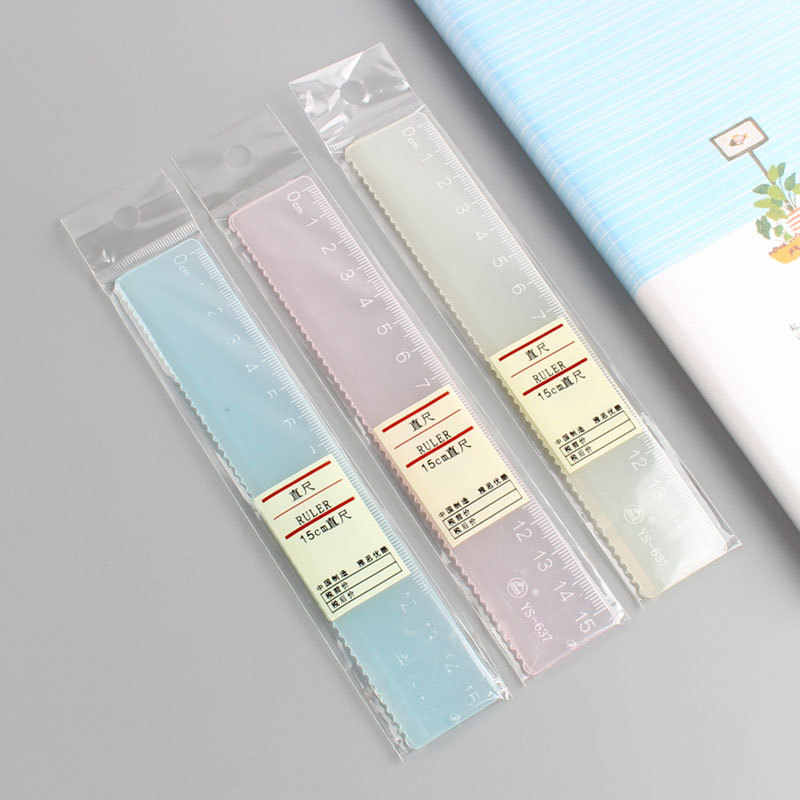 クリエイティブシンプルなキャンディーカラーの透明定規アクリル定規多機能ホイ tu カイ学生 PDA 足 15 センチメートル
