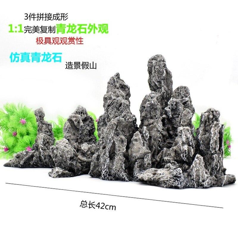 Grand Aquarium décoration roches pierre Aquarium décorations résine artisanat décor aquatique fournitures pour animaux de compagnie produits pour animaux de compagnie